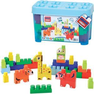Ecoiffier Abrick Box mit Tier Maxi-Bausteinen (Blau) [Kinderspielzeug]